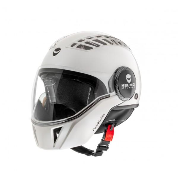 Helmo Milano Full Open Face Helmet, FuoriRotta, white