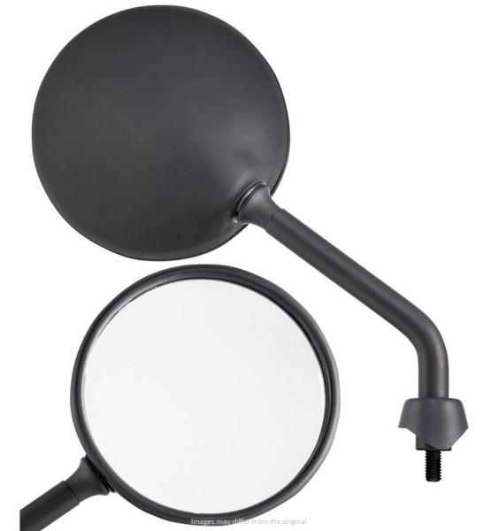 Mirror Shorty for Vespa, black matt, right and left