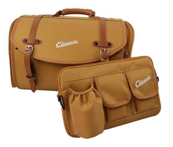 Bag set Classic for Vespa, brown