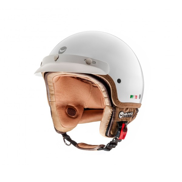 Helmo Milano open face helmet, FuoriPorta, white