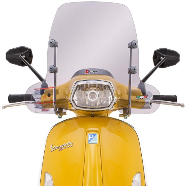 Half-height Faco windshield for Vespa Sprint - tinted