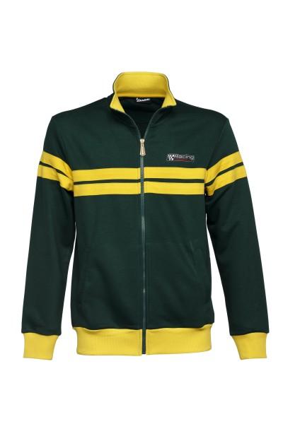 Vespa sweatshirt jacket, Racing Sixties 60s green / yellow