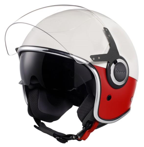 Vespa VJ Helmet white red