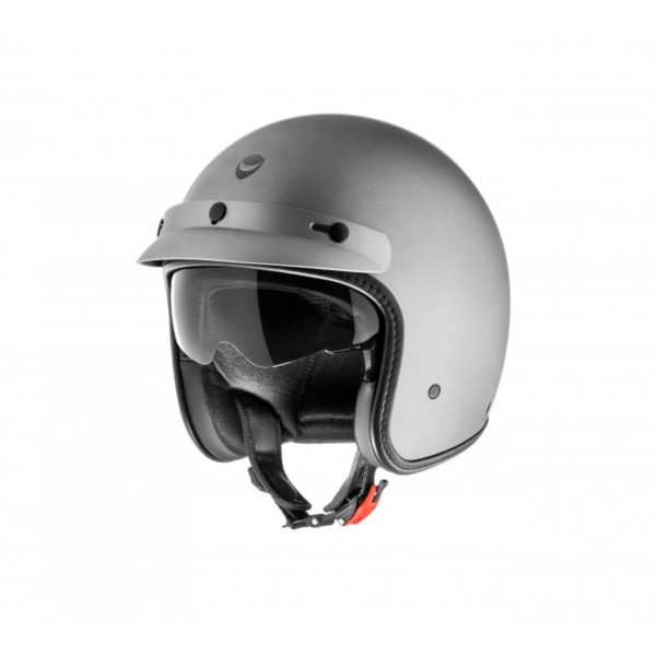 Helmo Milano open face helmet, Audace Monza, gray, matt