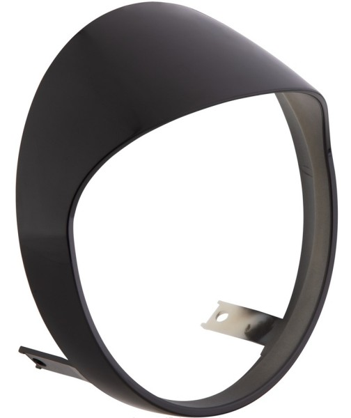 Headlamp rim for Vespa GTS/GTS Super HPE 125/300 ('19-), black shiny