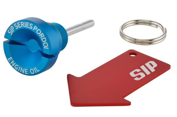 Oil filler screw (engine oil) for Vespa, matt blue