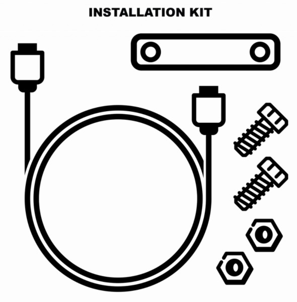 Electronic anti-theft installation kit (1D002554)