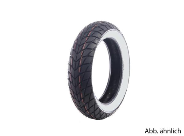 Mitas tyre 120/70-10, 54L, TL, white sidewall tyre, MC20, M+S, rear