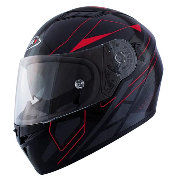 Shiro Integral Helmet, SH600, Elite, balck matt/red