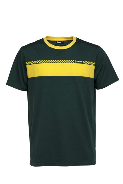 Vespa T-Shirt Racing Sixties 60s green / yellow