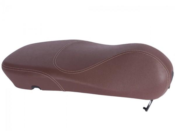 Original Vespa seat for Vespa Primavera brown with white stitching