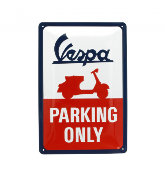 Vespa metal plate Vespa parking only