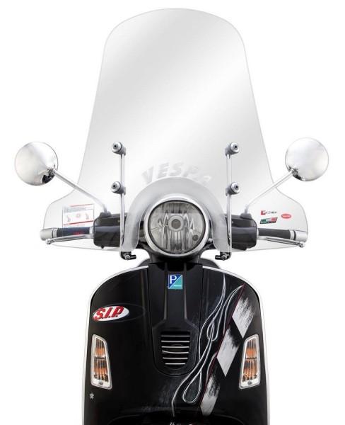 Wind shield full-sized for Vespa GTS/GTS Super/GT/GT L 125-300ccm, transparent