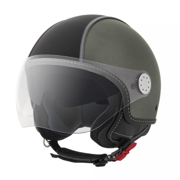 Piaggio Demi Jet helmet, Carbonskin, army green, matt