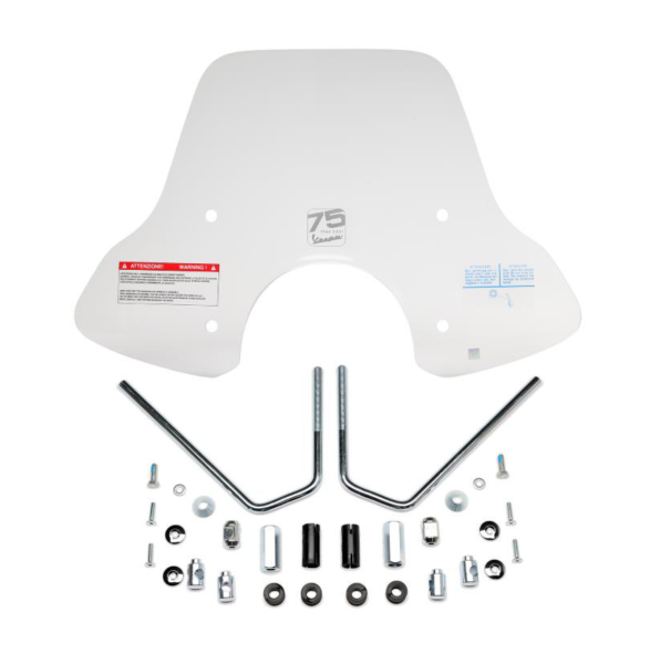 Large windshield with bracket, 75 Anniversary for Vespa GTS