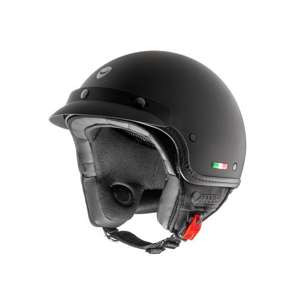 Helmo Milano open face helmet, FuoriPorta, black, matt