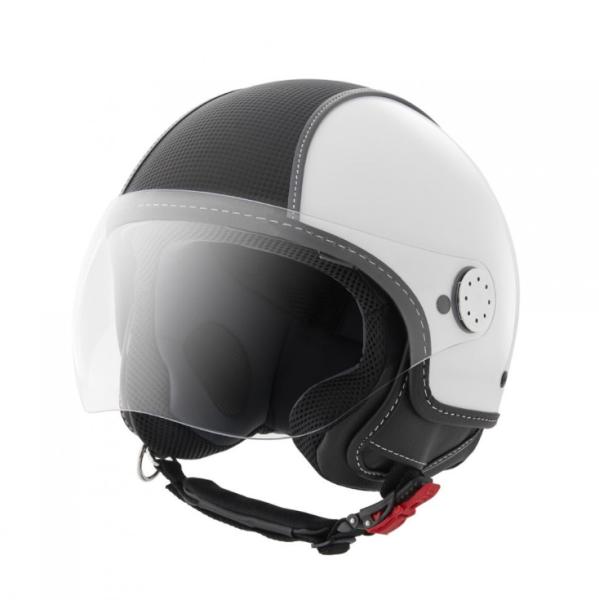 Piaggio Demi Jet helmet, Carbonskin, white