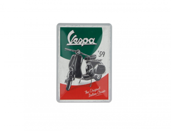 Vespa tin postcard The Italian Classic
