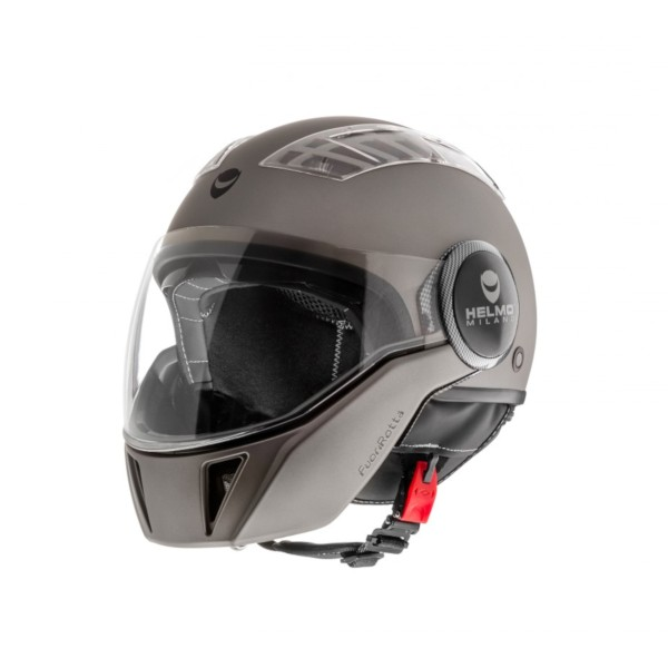 Helmo Milano Full Open Face Helmet, FuoriRotta, anthracite, matt