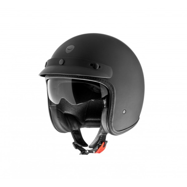 Helmo Milano open face helmet, Audace Monza, matt black