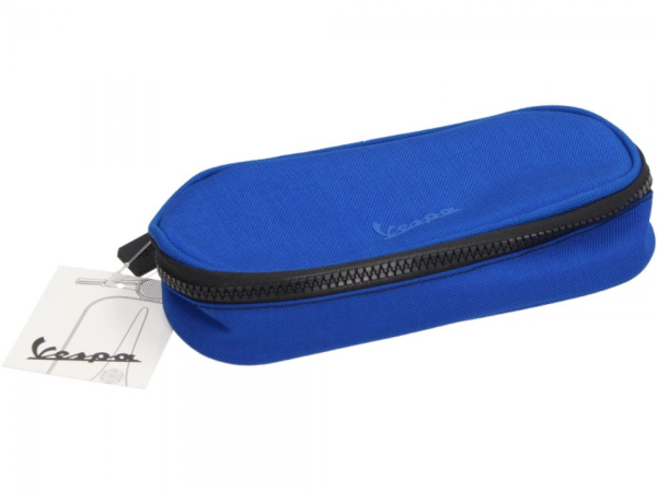 Vespa pencil case blue