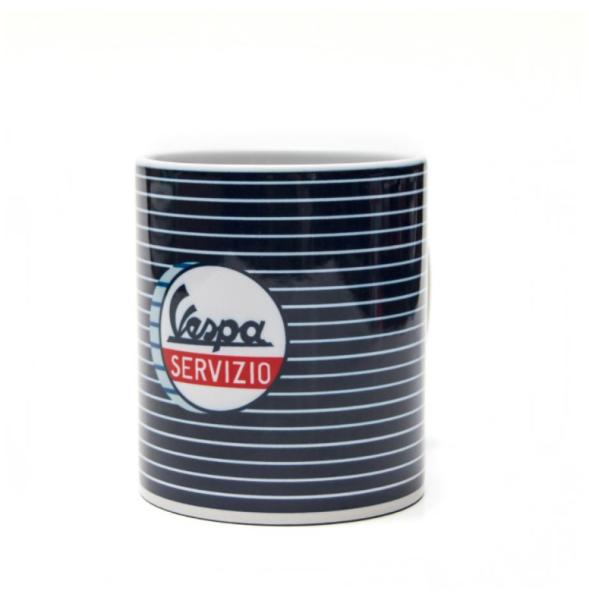 Vespa mug Servizio blue white