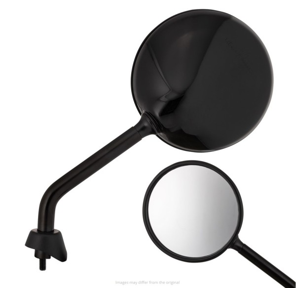 Mirror Shorty, black shiny, right and left for Vespa GTS / GTS Super HPE 125/300 ('19-)