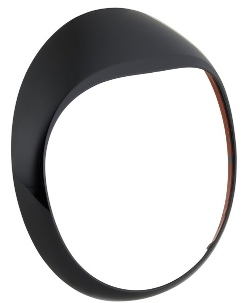 Headlamp rim for Vespa GTS/GTS Super/GT/GT L 125-300ccm, black shiny