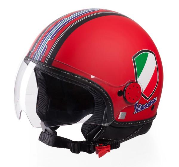 Vespa Jet Helmet V-Stripes, red