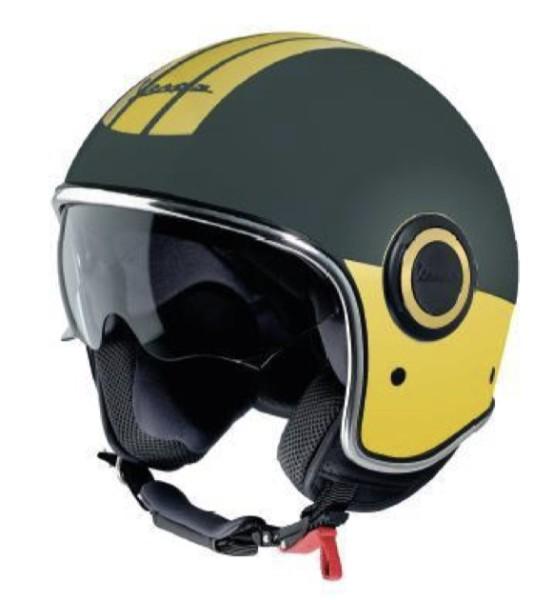Vespa open face helmet VJ Racing 60s green / yellow - Sixties