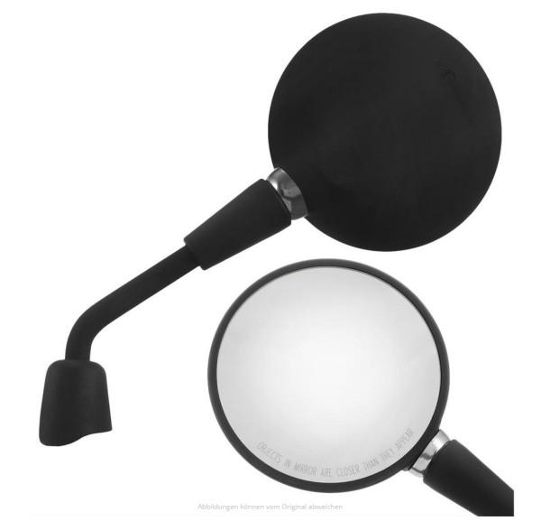 Mirror Shorty black matt right and left for Vespa Primavera 50-150ccm 2T/4T / GTS HPE 50-300ccm
