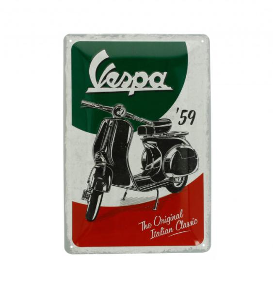 Vespa metal plate Vespa Italian Classic