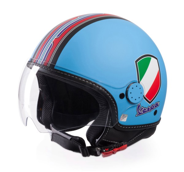 Vespa Jet Helmet V-Stripes, light blue