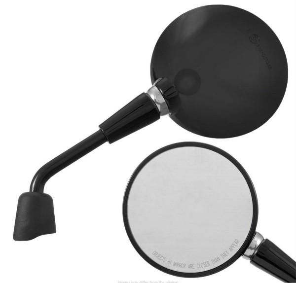 Mirror Shorty, shiny black, right and left for Vespa Primavera 50-150ccm 2T/4T / GTS HPE 50-300ccm