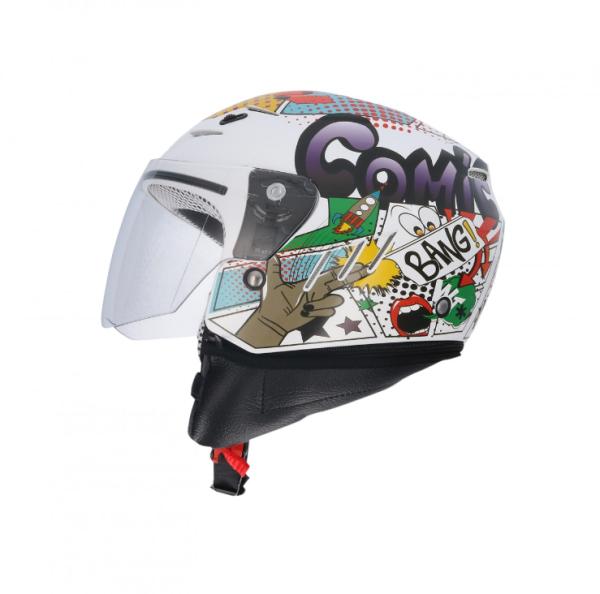 Shiro children helmet, SH20, Comic, white/green/red