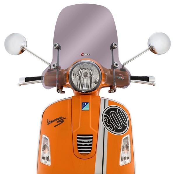 Wind shield medium-sized for Vespa GTS/GTS Super/GT/GT L 125-300ccm, toned