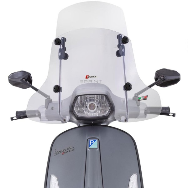 """Windshield Faco """"Twin-Screen"""" for Vespa Sprint - clear"""