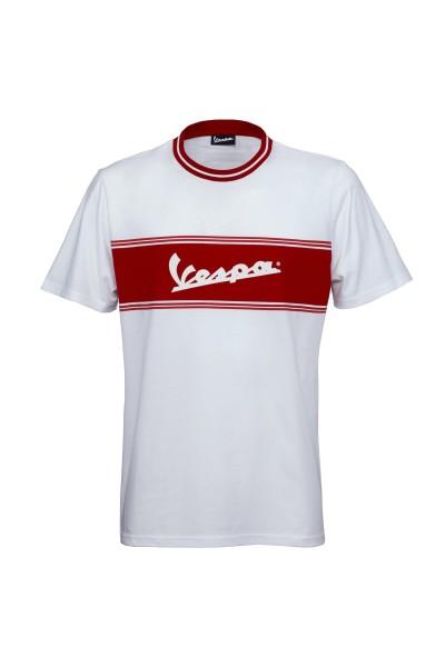 Vespa T-Shirt Racing Sixties 60s white / red