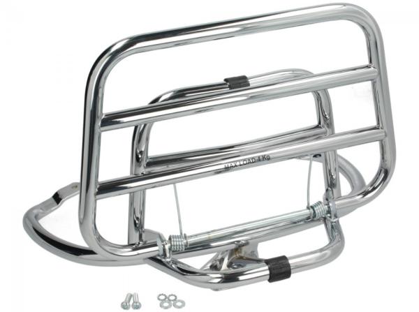 Folding rear rack Vespa Primavera / Sprint / Elettrica - chrome