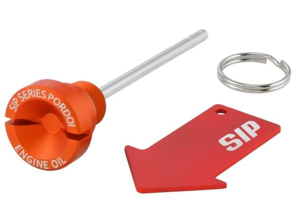 Oil filler screw (engine oil) for Vespa GTS/GTS Super/GTV 300ccm HPE, matt orange
