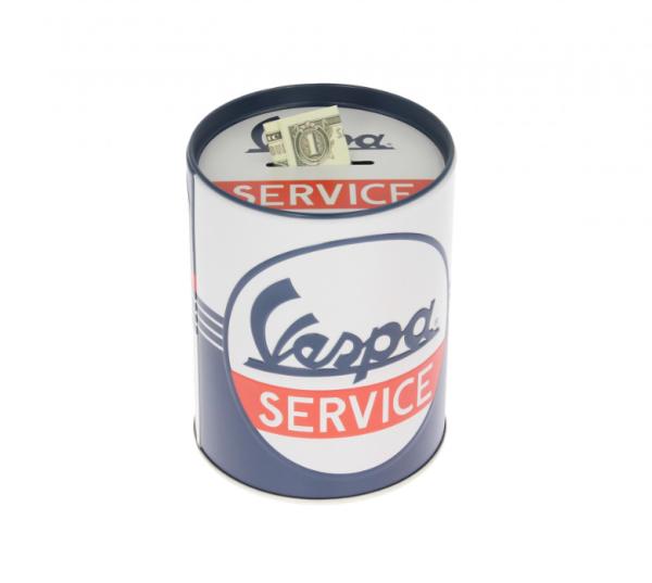 Vespa money box Vespa Service, tin