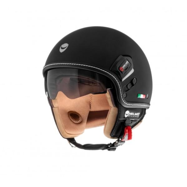 Helmo Milano Demi Jet, Puro Premium, black matt