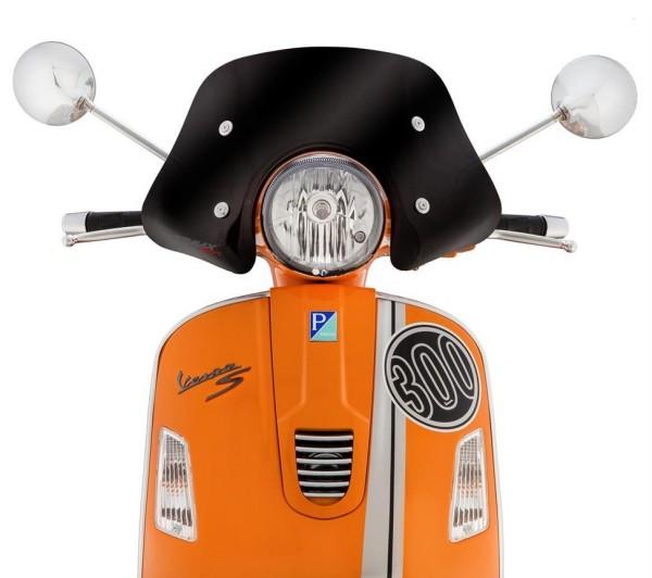 Flyscreen Piccolo for Vespa GTS/GTS Super/GT/GT L 125-300ccm, black toned