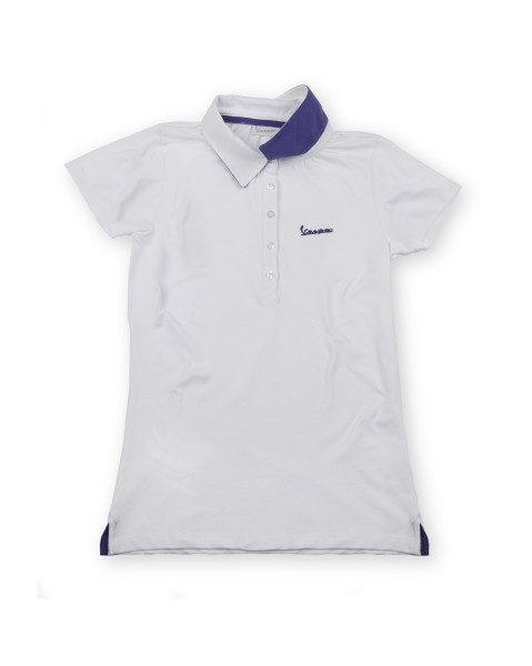 "Vespa Polo Shirt ""Vespa Logo"" woman white"