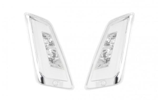 LED turn signal set front for Vespa GT, GTL, GTV, GTS 125-300, tinted