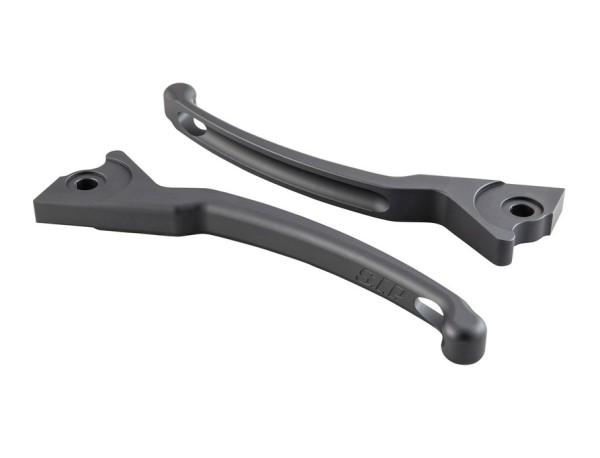 Sport Lever Set brake for Vespa, grey mat, left and right