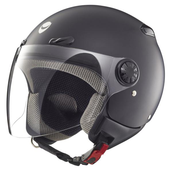 Helmo Milano open face helmet, Oscuro, matt black