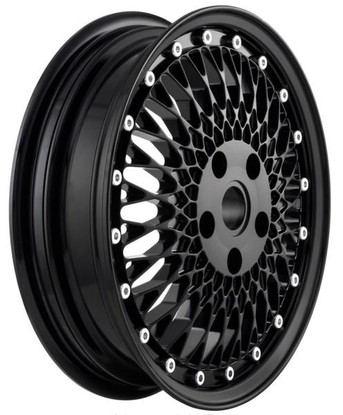 Rim Comb 1 front/rear for Vespa GTS/GTS Super/GTV/GT 60/GT/GT L/946 125-300ccm, black shiny