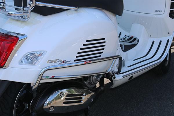 Crash bar side panel, rear for Vespa GTS 300ccm HPE ('19-), chrome