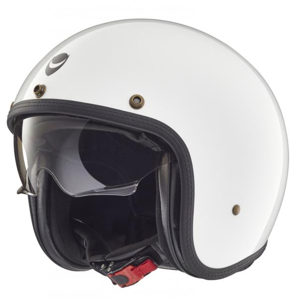 Helmo Milano open face helmet, Audace, pearl white